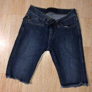 Rock & Republic Stud Huntress Frayed Jean Shorts